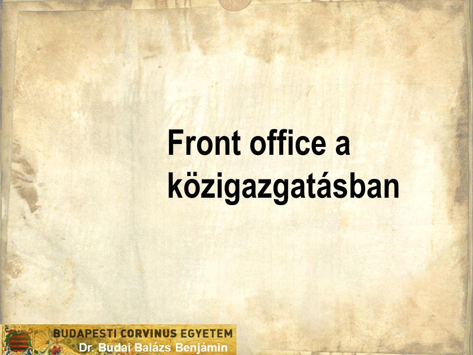 Front office a közigazgatásban