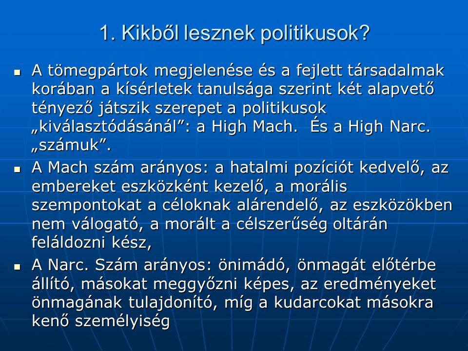 1. Kikből lesznek politikusok