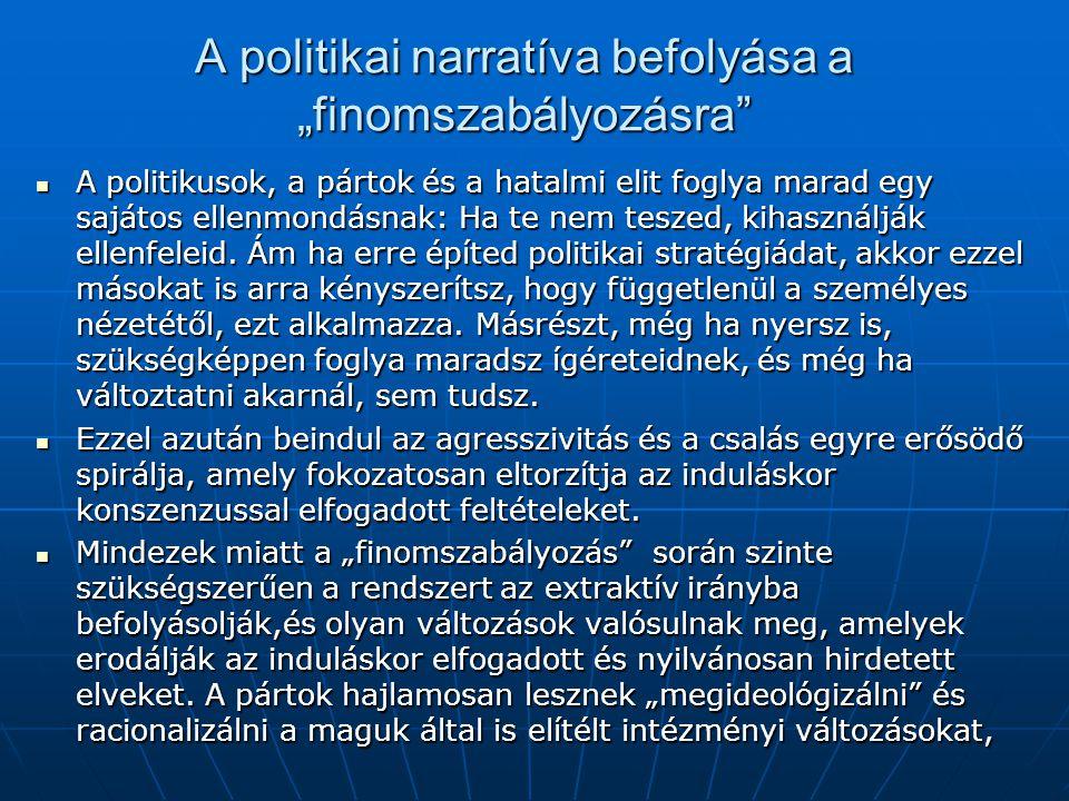 """A politikai narratíva befolyása a """"finomszabályozásra"""