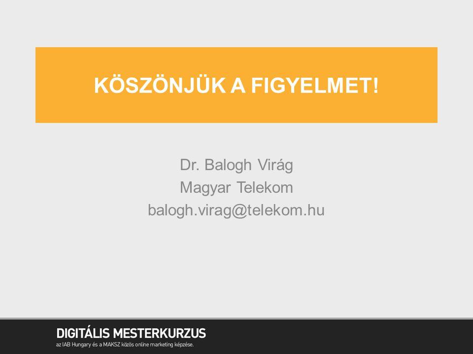 Dr. Balogh Virág Magyar Telekom balogh.virag@telekom.hu