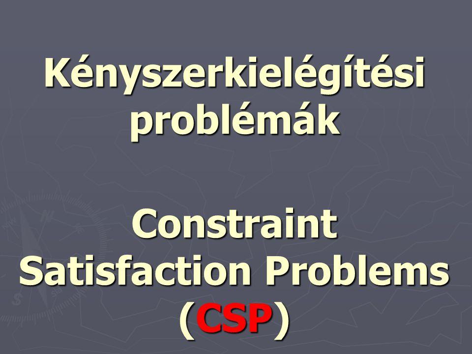 Kényszerkielégítési problémák Constraint Satisfaction Problems (CSP)