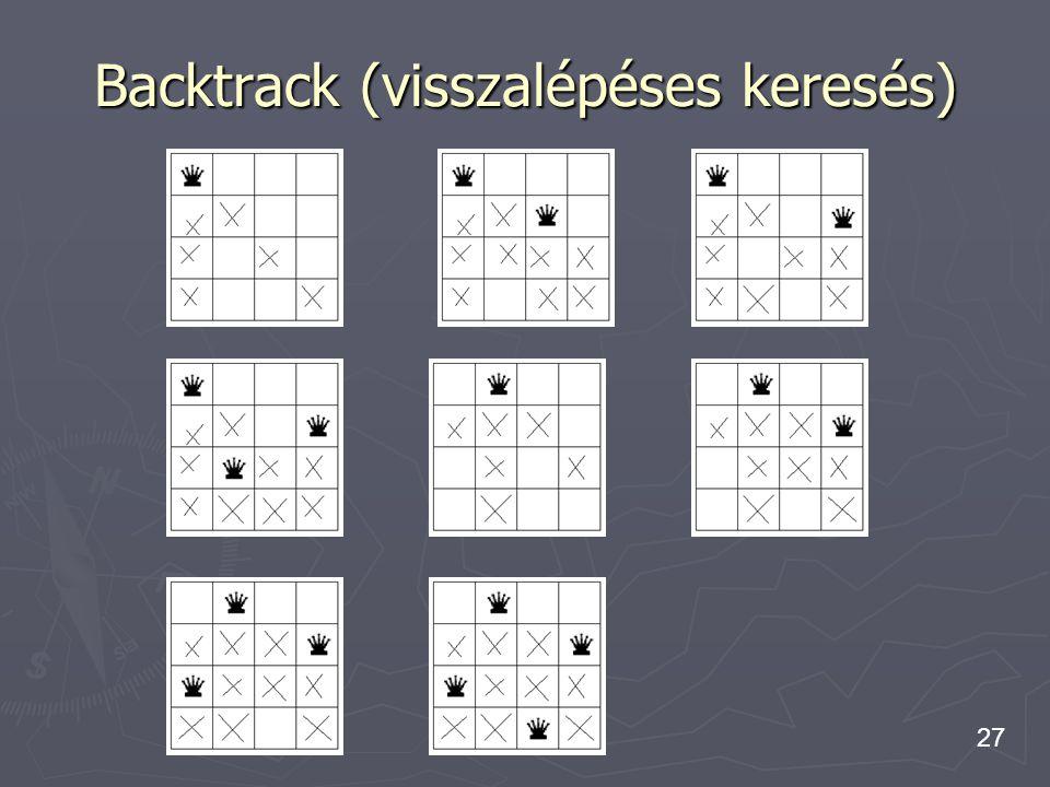 Backtrack (visszalépéses keresés)