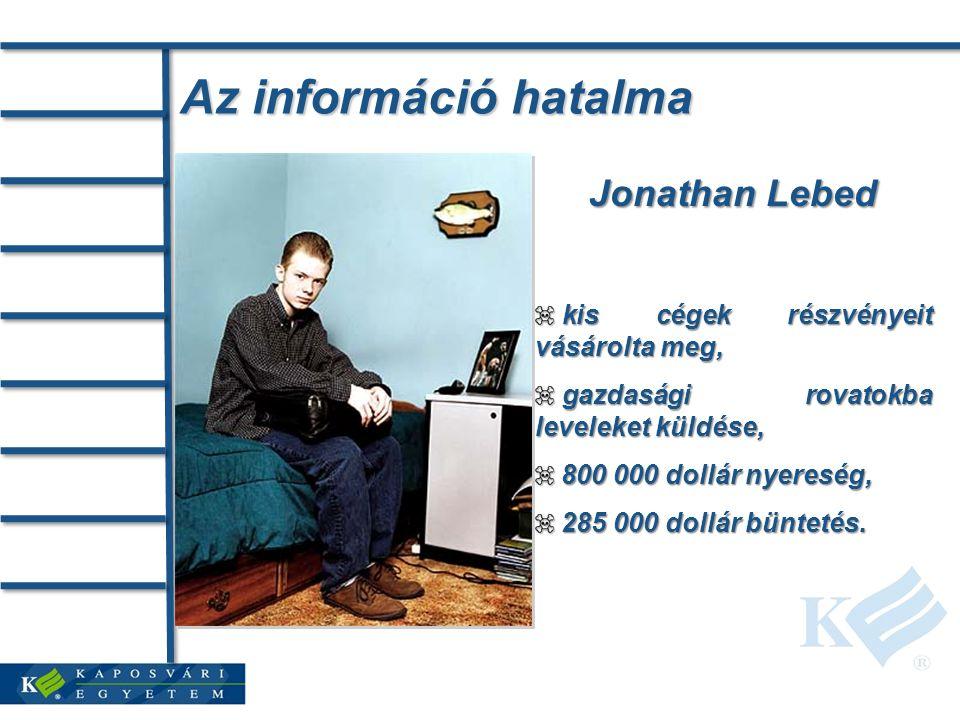 Az információ hatalma Jonathan Lebed