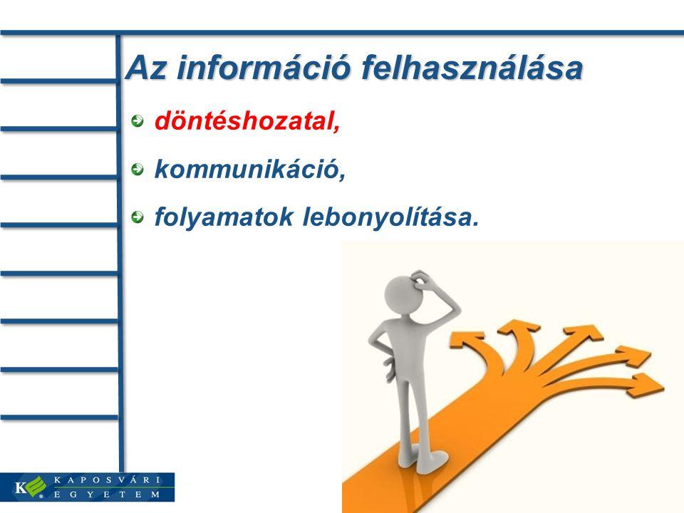 Az információ felhasználása