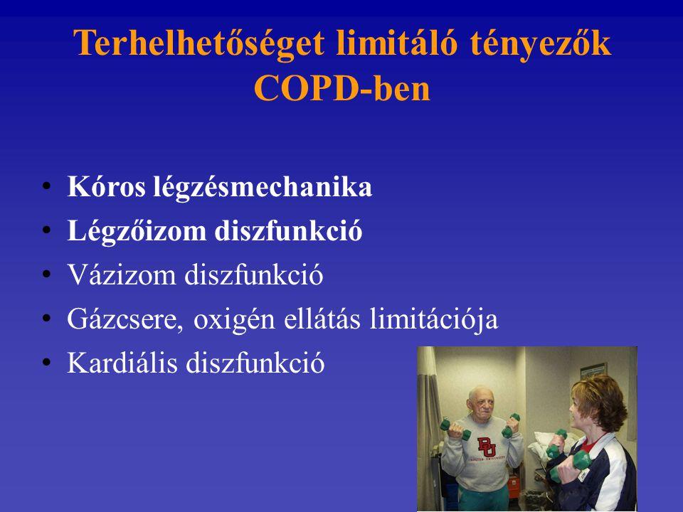 Terhelhetőséget limitáló tényezők COPD-ben