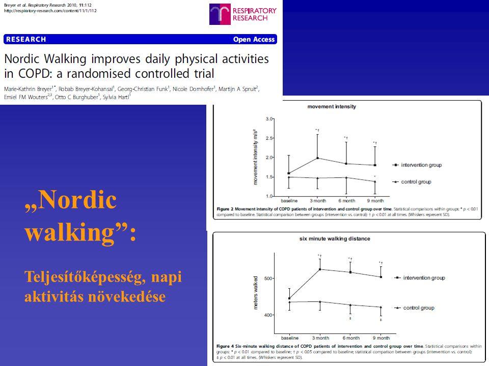 """""""Nordic walking : Teljesítőképesség, napi aktivitás növekedése"""