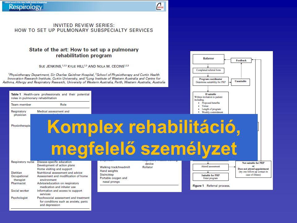 Komplex rehabilitáció, megfelelő személyzet