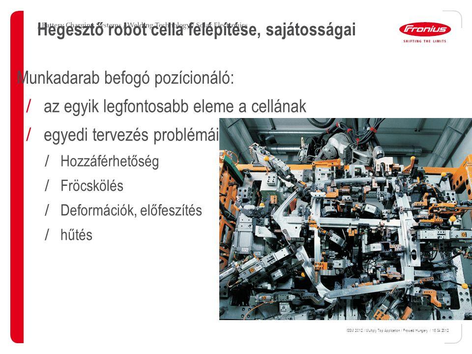 Hegesztő robot cella felépítése, sajátosságai