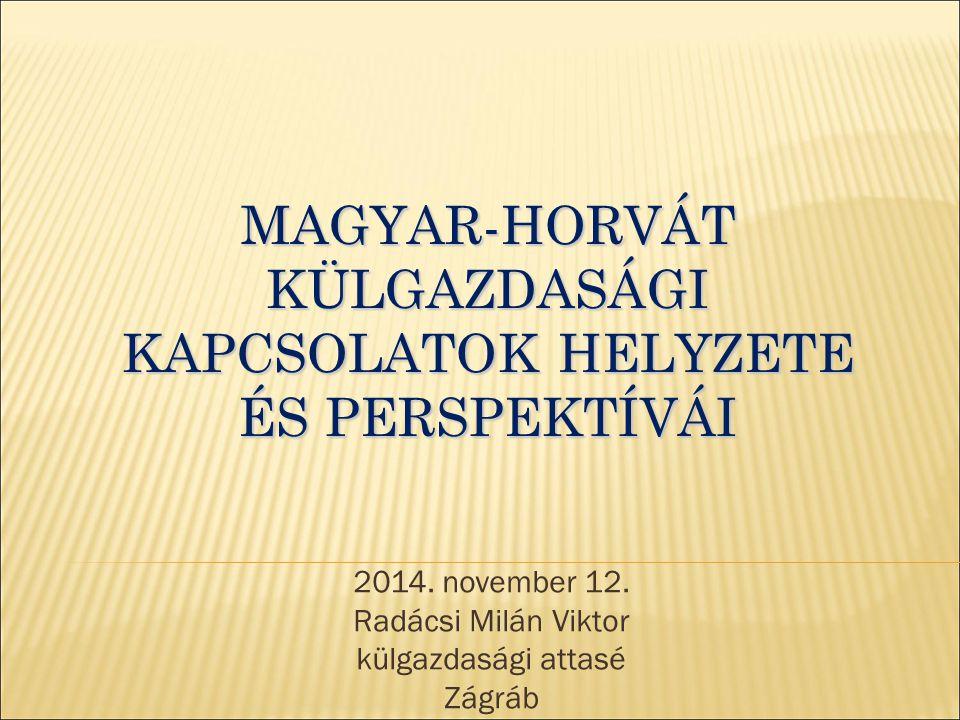 Magyar-horvát külgazdasági kapcsolatok helyzete és perspektívái