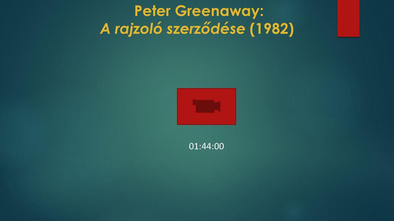 Peter Greenaway: A rajzoló szerződése (1982)