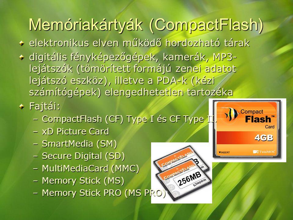 Memóriakártyák (CompactFlash)