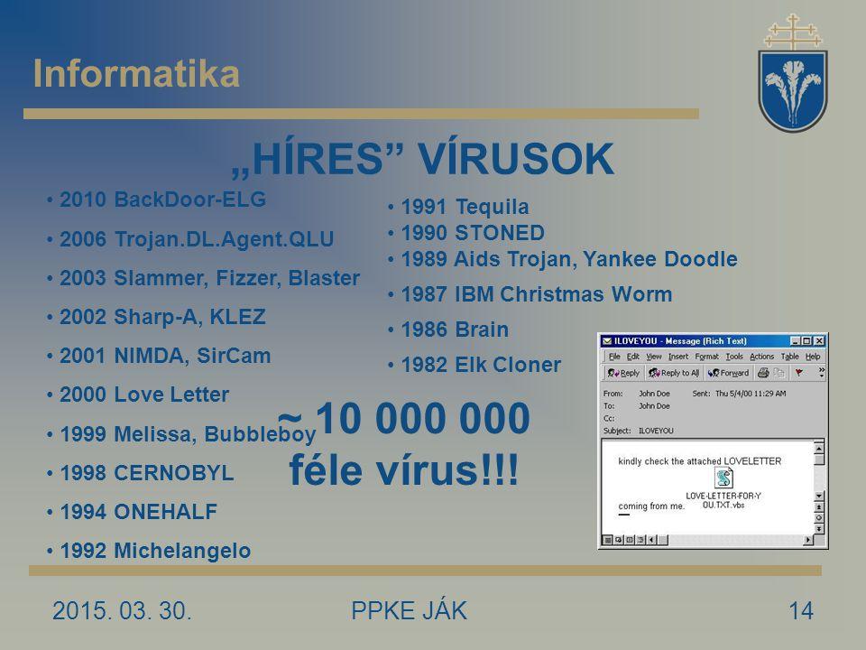 """""""HÍRES VÍRUSOK ~ 10 000 000 féle vírus!!!"""