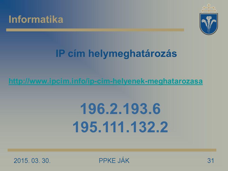 IP cím helymeghatározás