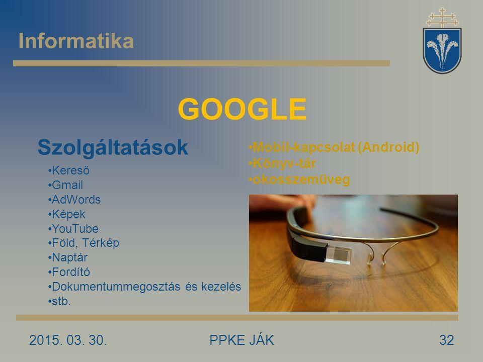 GOOGLE Informatika Szolgáltatások Mobil-kapcsolat (Android) Könyv-tár