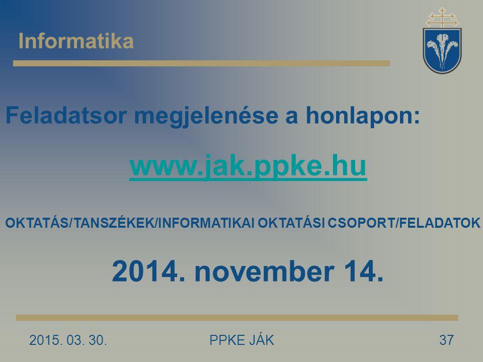 www.jak.ppke.hu 2014. november 14.