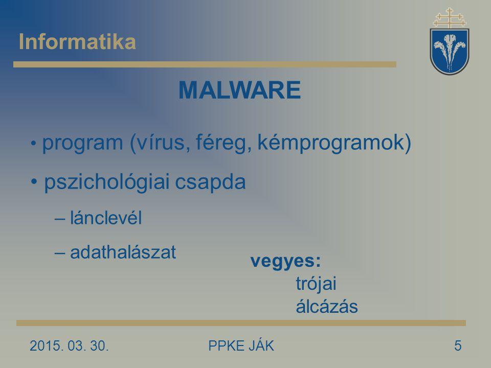 MALWARE Informatika pszichológiai csapda