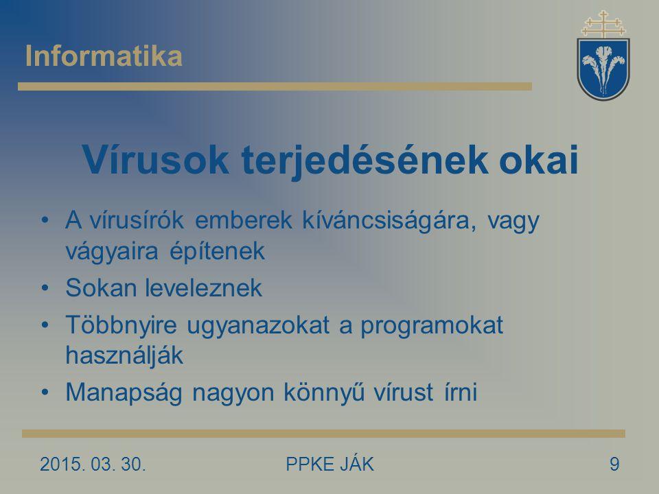Vírusok terjedésének okai
