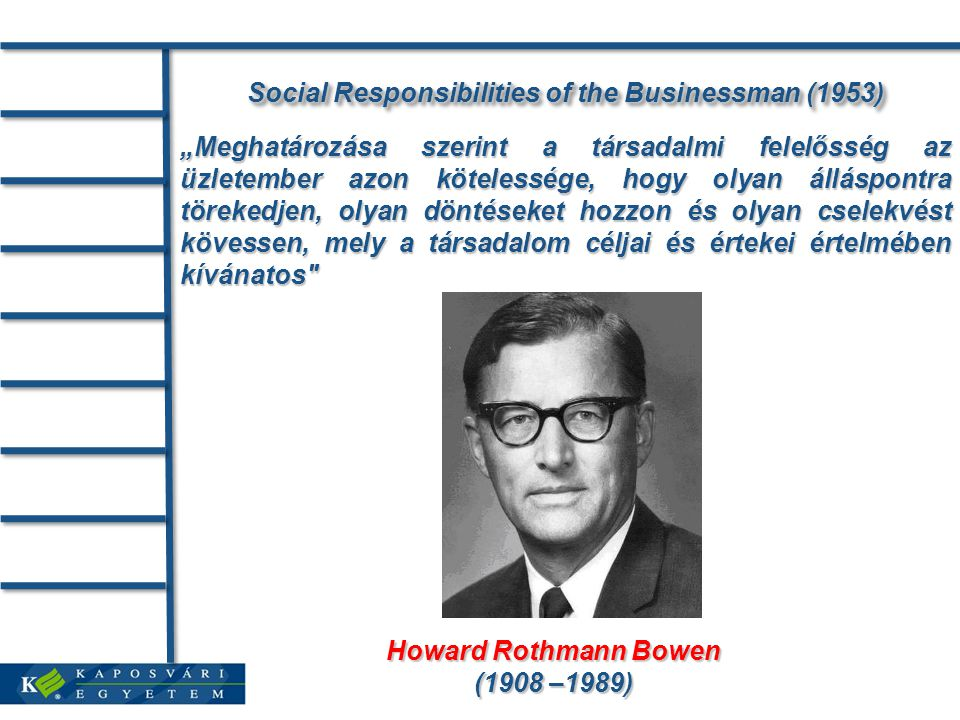 Social Responsibilities of the Businessman (1953)