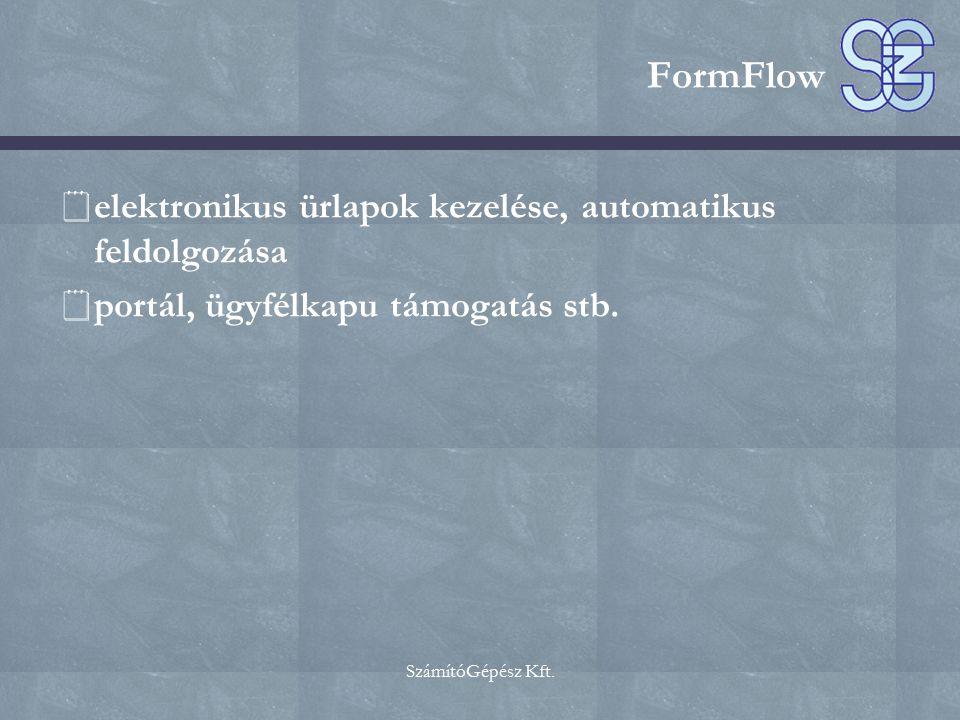FormFlow elektronikus ürlapok kezelése, automatikus feldolgozása
