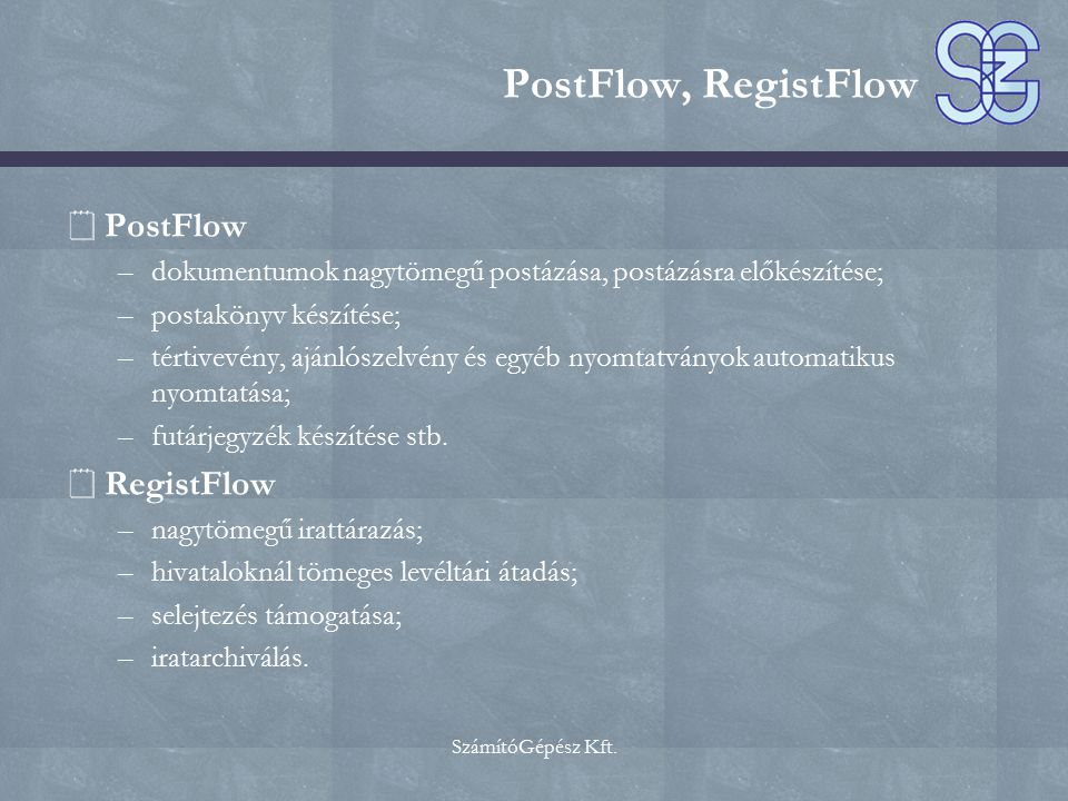 PostFlow, RegistFlow PostFlow RegistFlow