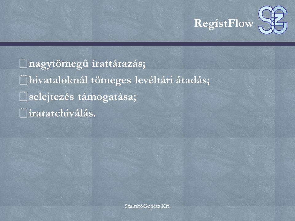 RegistFlow nagytömegű irattárazás;
