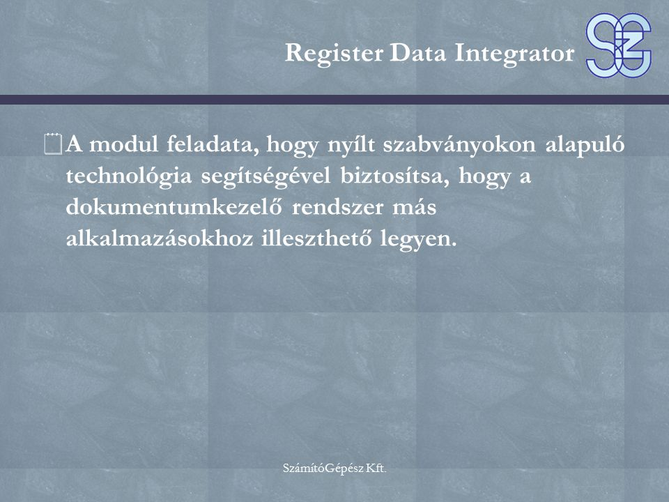 Register Data Integrator