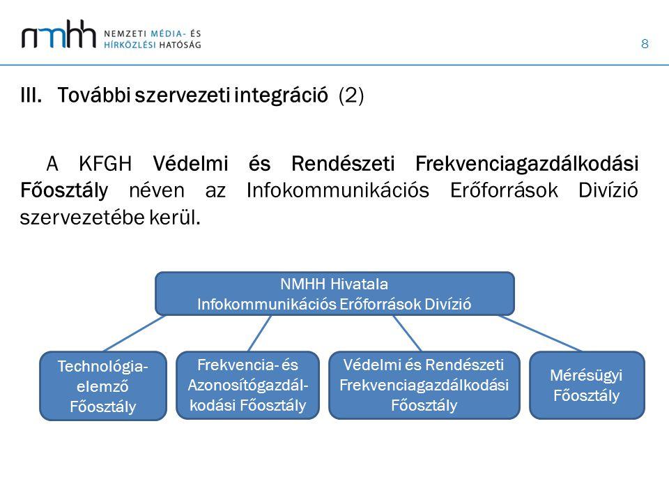 További szervezeti integráció (2)