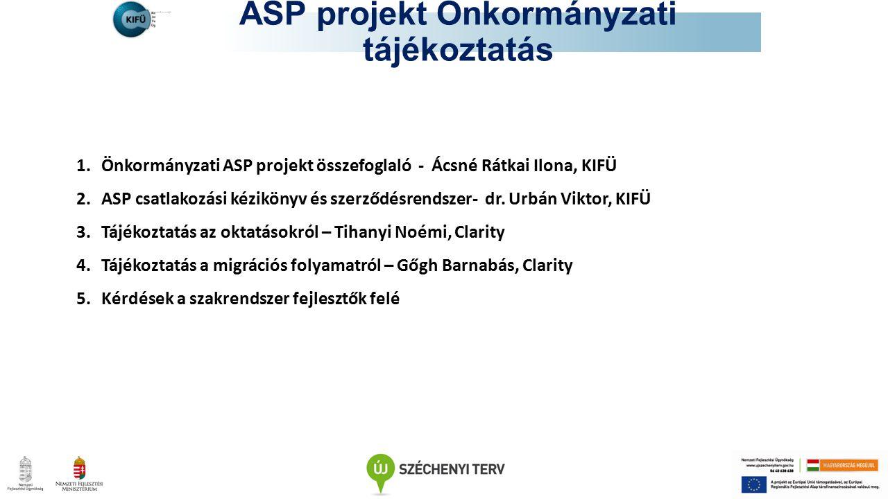ASP projekt Önkormányzati tájékoztatás