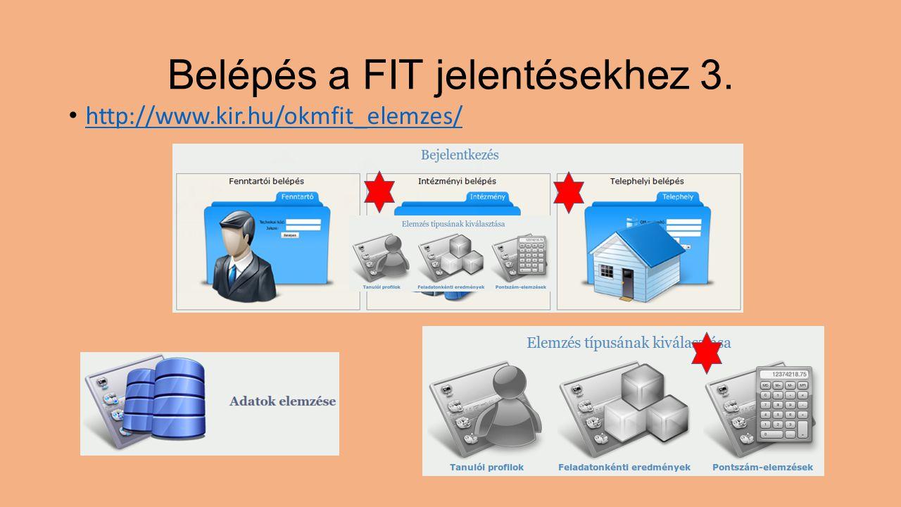Belépés a FIT jelentésekhez 3.