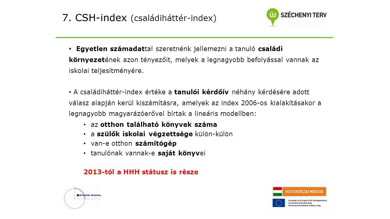 7. CSH-index (családiháttér-index)