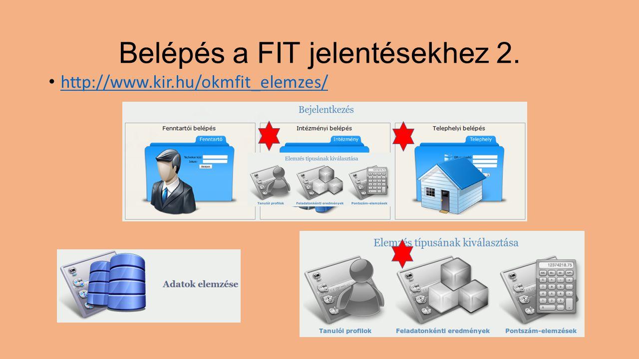 Belépés a FIT jelentésekhez 2.