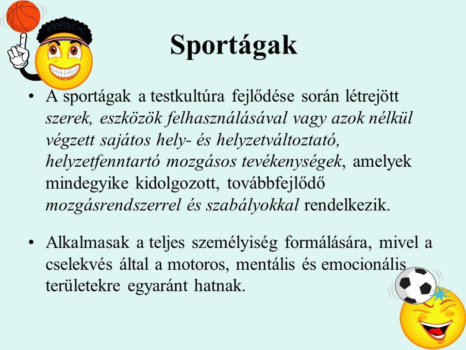 Sportágak