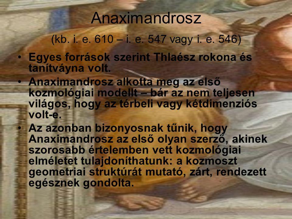 Anaximandrosz (kb. i. e. 610 – i. e. 547 vagy i. e. 546)