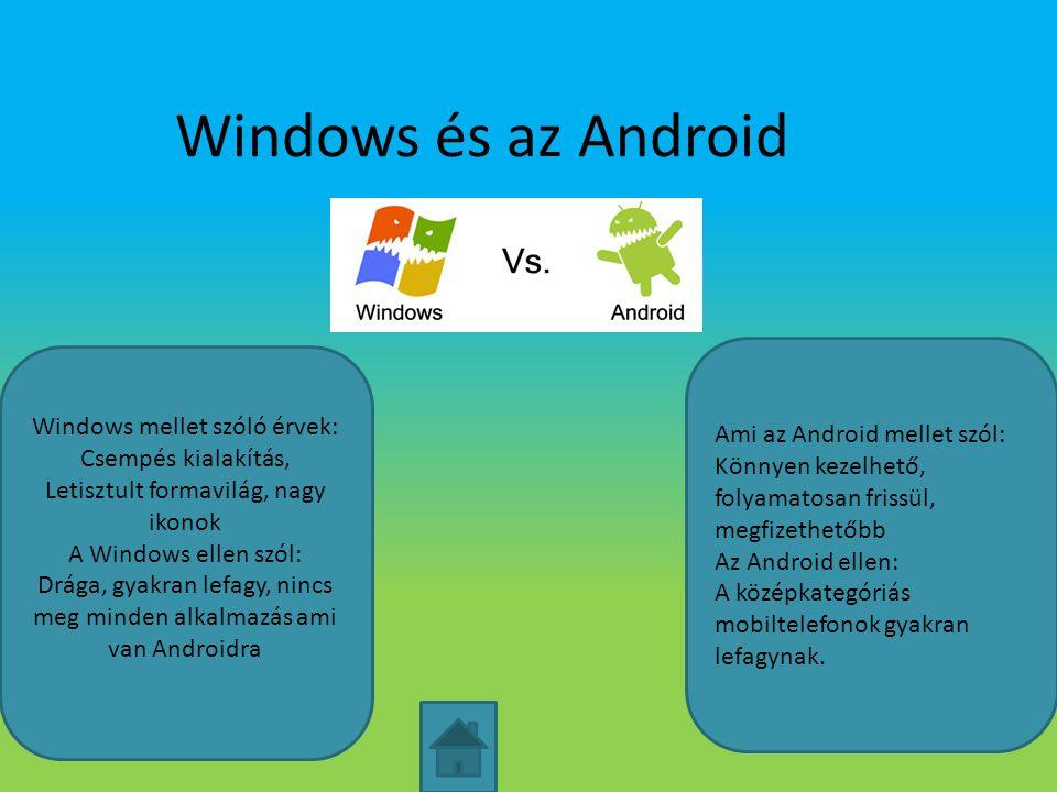 Windows és az Android Ami az Android mellet szól: