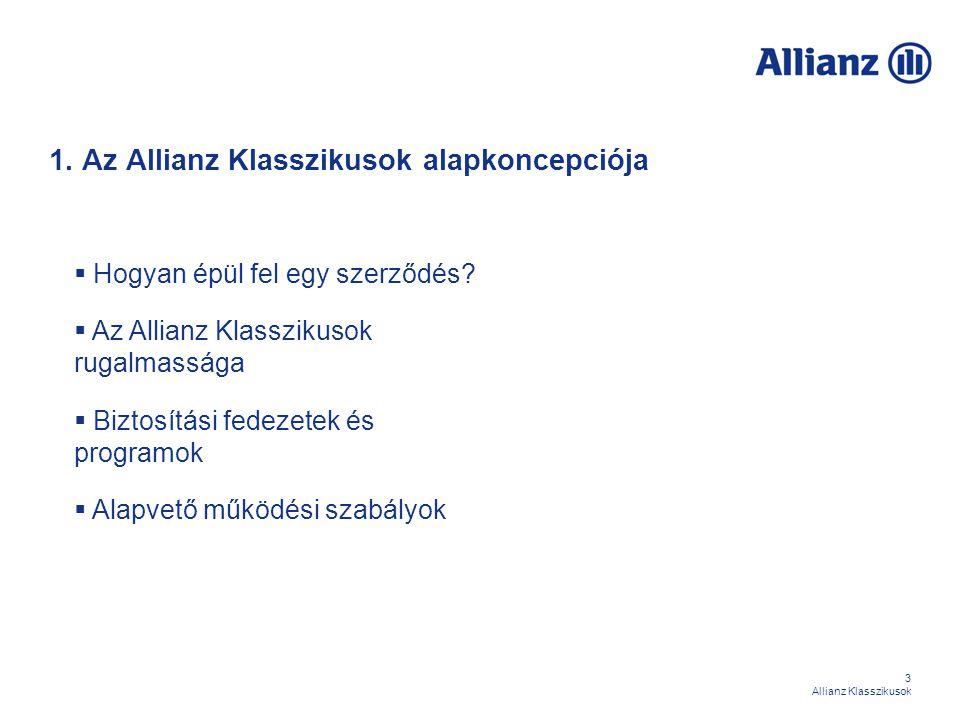 1. Az Allianz Klasszikusok alapkoncepciója