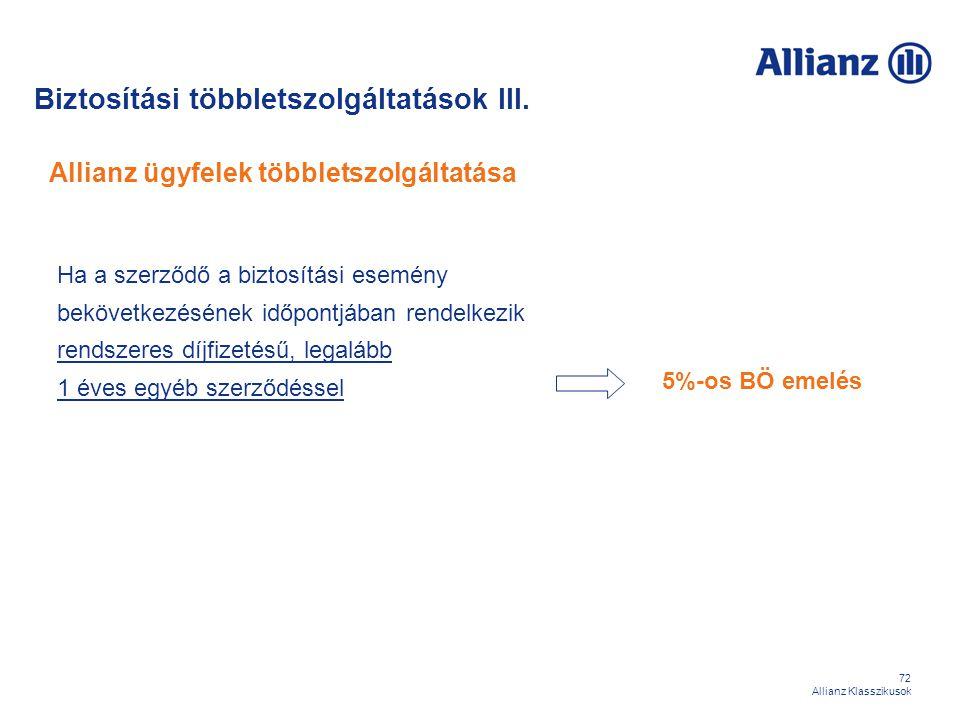 Allianz ügyfelek többletszolgáltatása