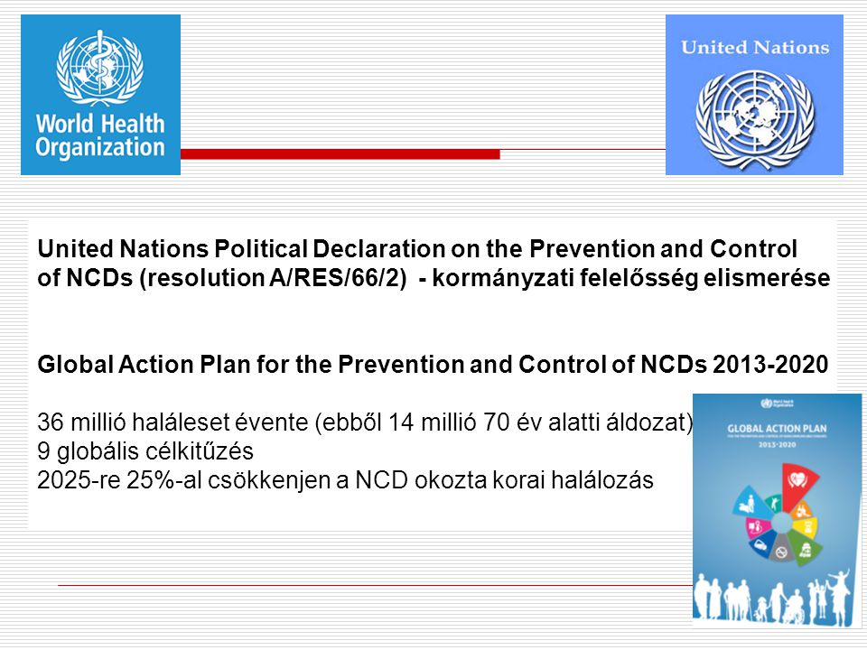 United Nations Political Declaration on the Prevention and Control of NCDs (resolution A/RES/66/2) - kormányzati felelősség elismerése