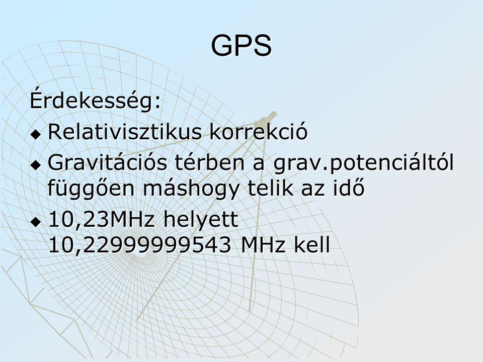GPS Érdekesség: Relativisztikus korrekció