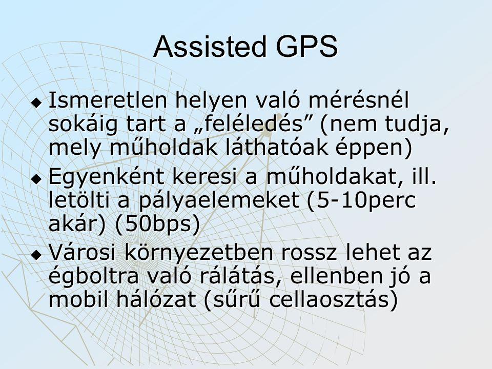 """Assisted GPS Ismeretlen helyen való mérésnél sokáig tart a """"feléledés (nem tudja, mely műholdak láthatóak éppen)"""