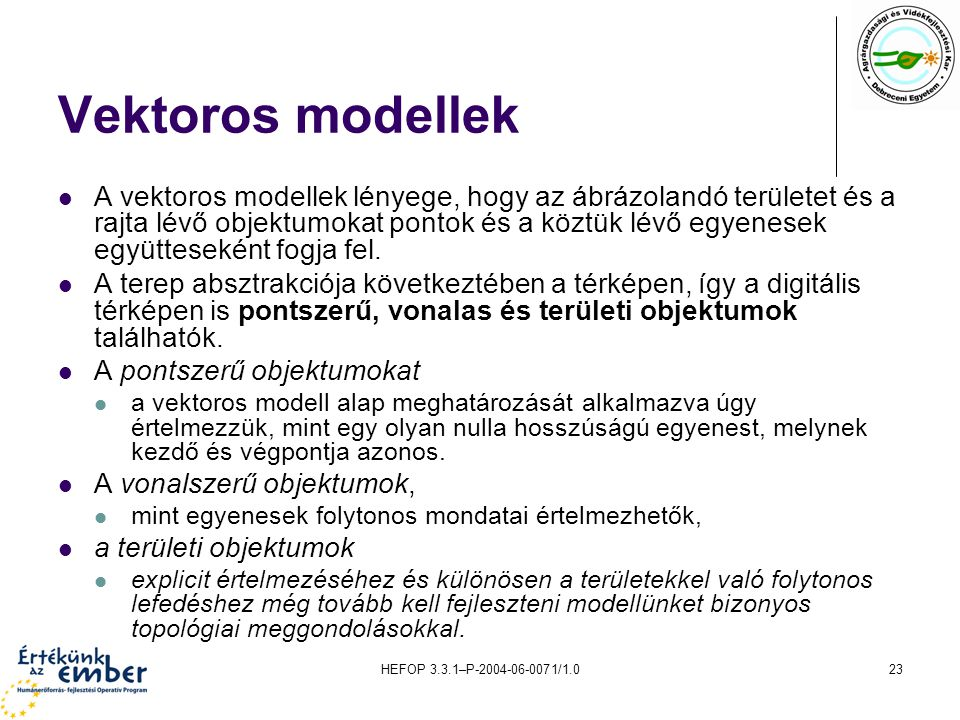 Vektoros modellek