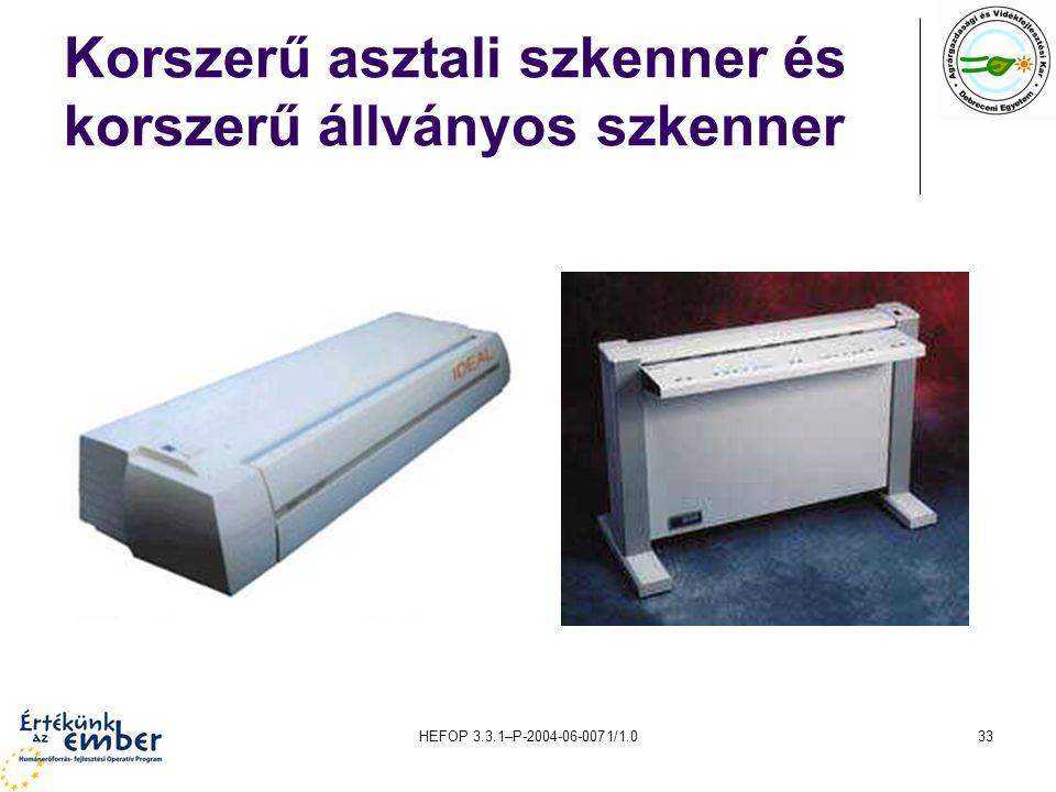 Korszerű asztali szkenner és korszerű állványos szkenner