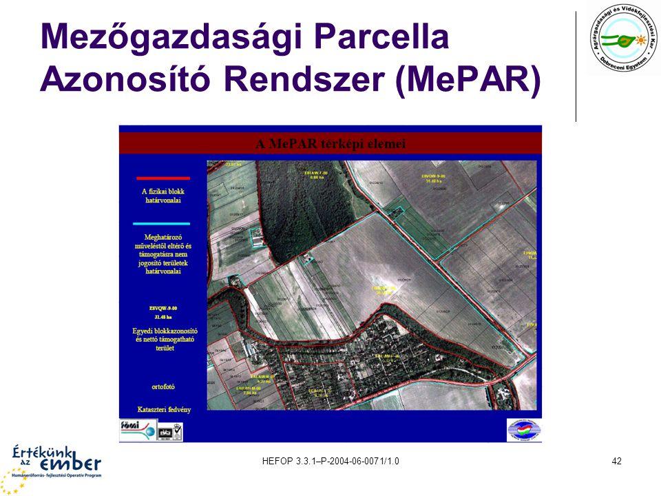 Mezőgazdasági Parcella Azonosító Rendszer (MePAR)