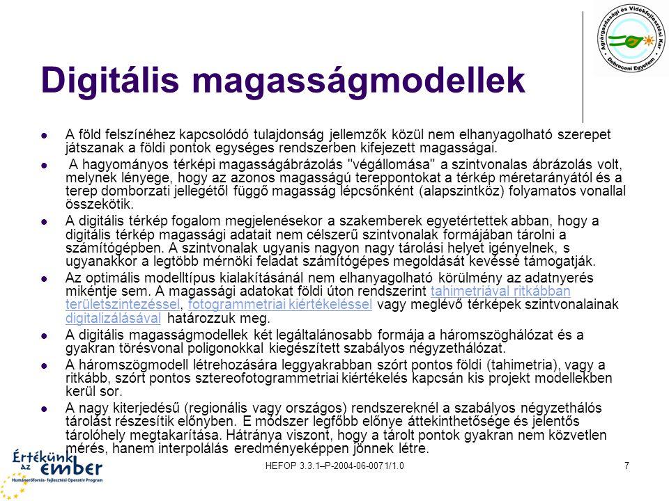 Digitális magasságmodellek