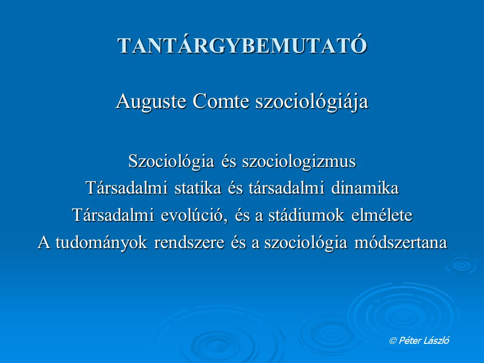 Auguste Comte szociológiája