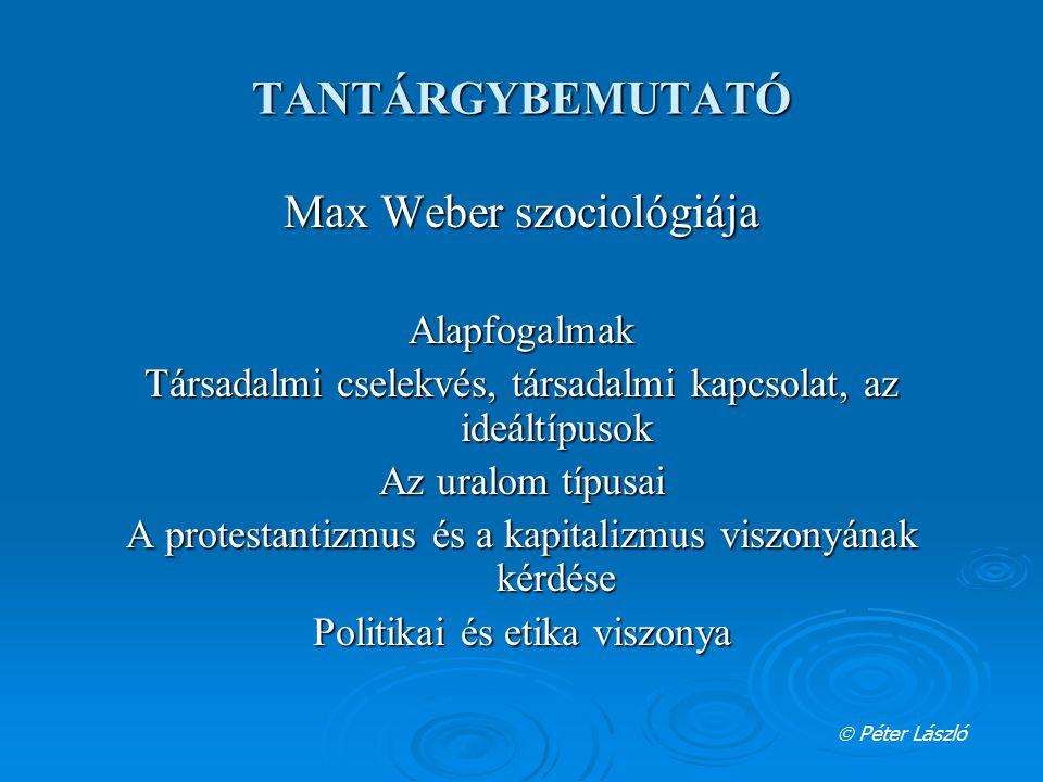 Max Weber szociológiája