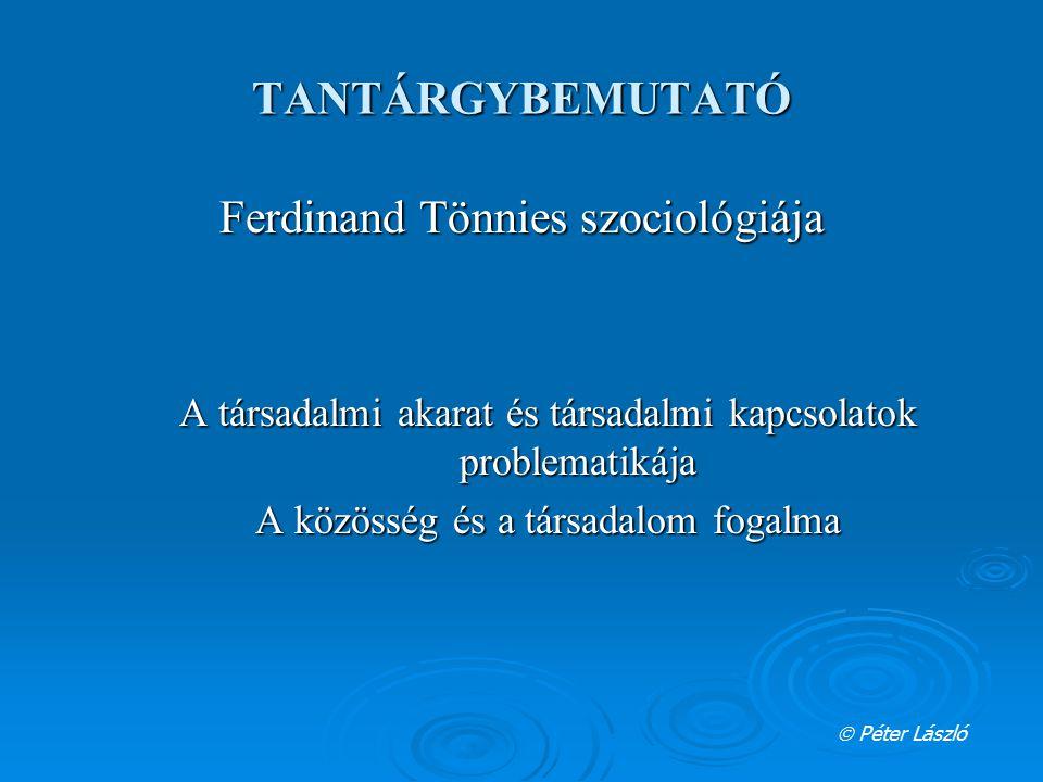 Ferdinand Tönnies szociológiája