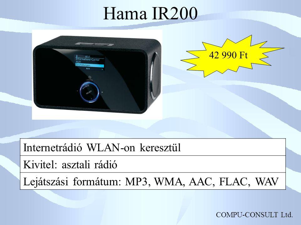 Hama IR200 Internetrádió WLAN-on keresztül Kivitel: asztali rádió