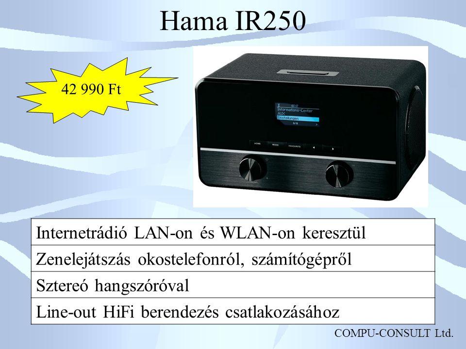 Hama IR250 Internetrádió LAN-on és WLAN-on keresztül