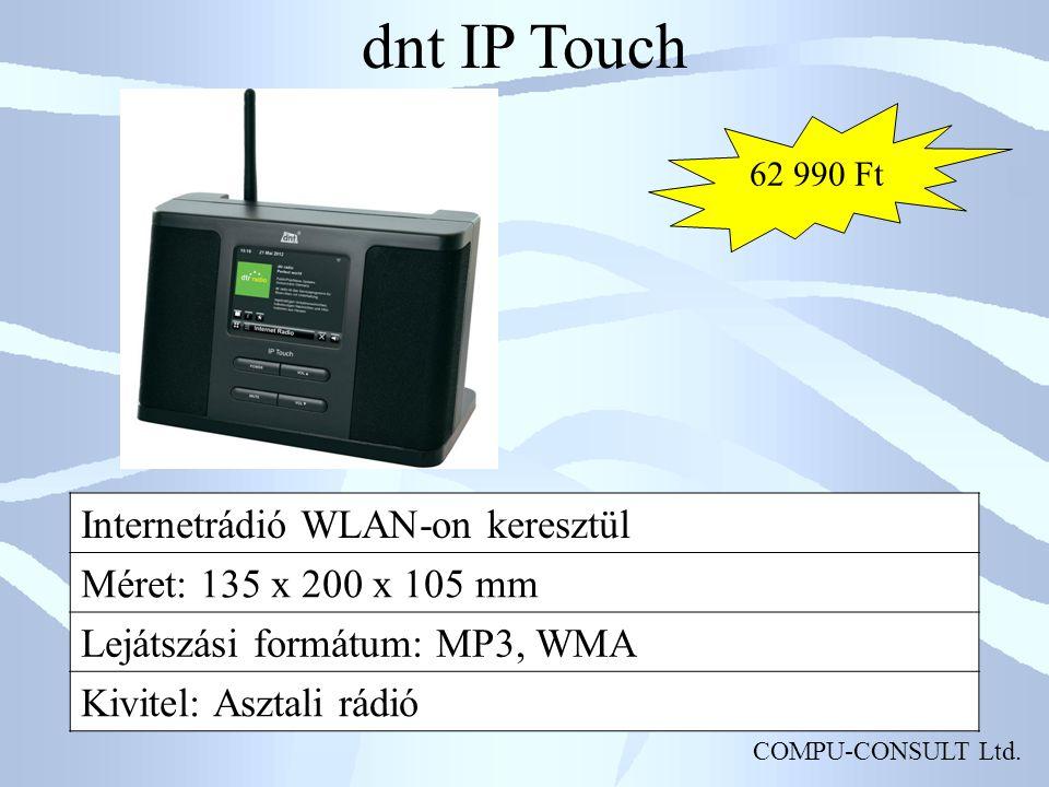 dnt IP Touch Internetrádió WLAN-on keresztül Méret: 135 x 200 x 105 mm