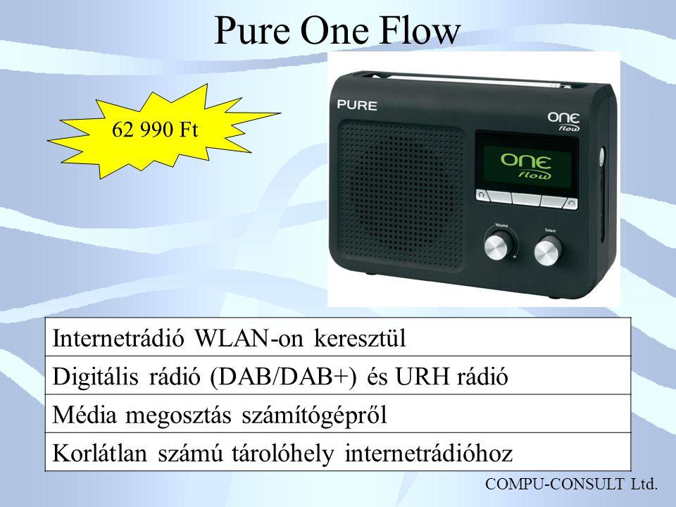Pure One Flow Internetrádió WLAN-on keresztül